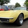 A yellow Chevrolet Corvette Stingray sits on display during the Greater Hatboro Chamber of Commerce's first Cruise Night of the summer along York Road June 23.