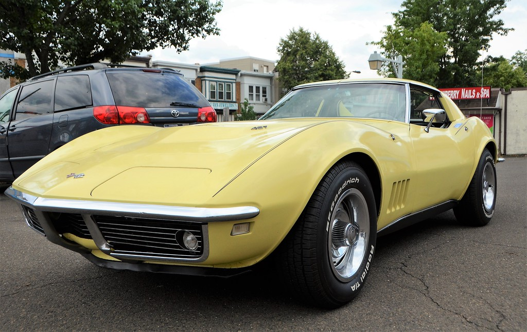 . A yellow Chevrolet Corvette Stingray sits on display during the Greater Hatboro Chamber of Commerce�s first Cruise Night of the summer along York Road June 23.