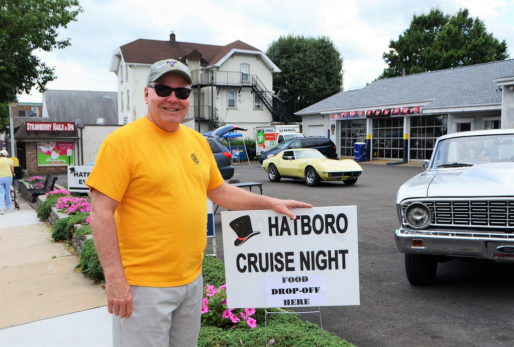 . Bob Johnston, of Hatboro, comes out to enjoy the Greater Hatboro Chamber of Commerce�s first Cruise Night of the summer along York Road June 23.