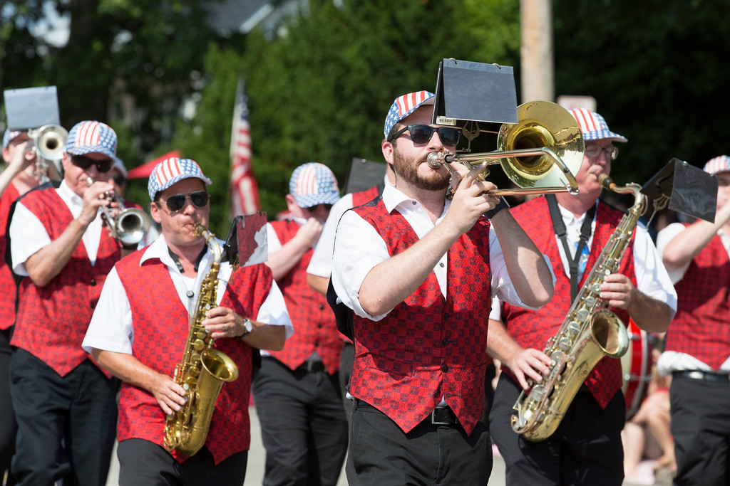 . The Caesar Rodney Brass Band from Wilmington, Del., marches in the parade.  Rachel Wisniewski � For Digital First Media