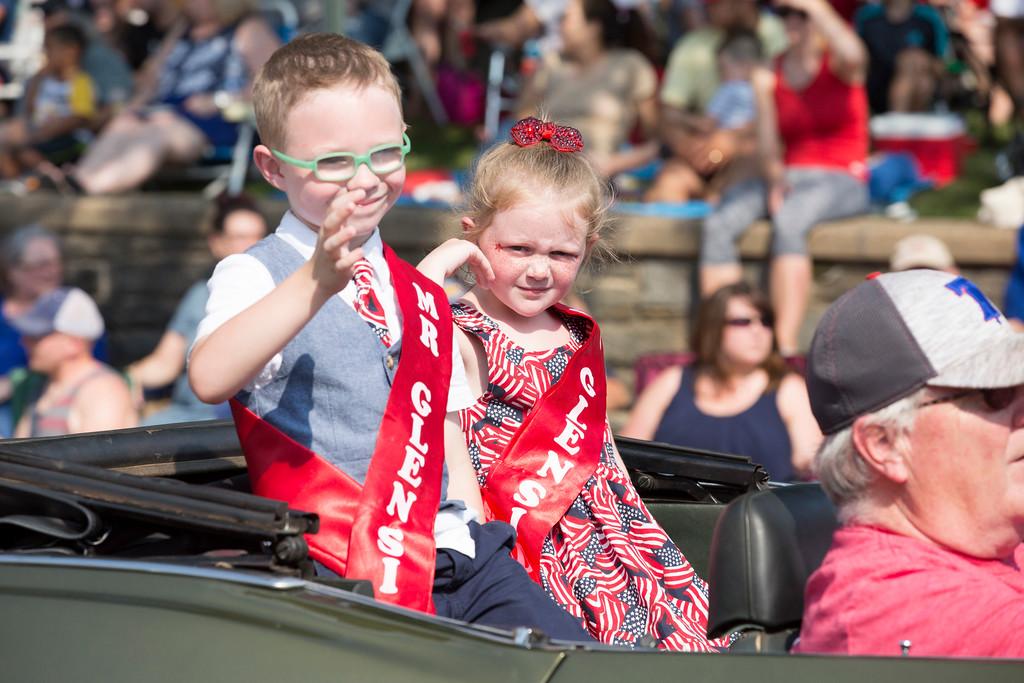 . Little Miss Glenside and Little Mr. Glenside ride in the parade.  Rachel Wisniewski � For Digital First Media