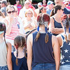 Sammi Stoud, left, Kaelie Mahoney, Bria Mahoney and Sara Stoud show off their patriotic hairdos.  Rachel Wisniewski — For Digital First Media