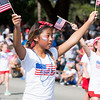 Girls from the Cassidy Dance School perform a dance routine while waving American flags during the Greater Glenside Patriotic Association's annual Grand, Glorious, Patriotic Parade on the Fourth of July.  Rachel Wisniewski — For Digital First Media