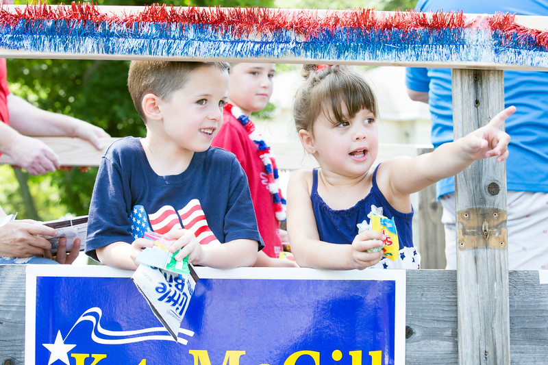 The Oreland Lions Club's annual Fourth of July Parade marches through the neighborhood.  Rachel Wisniewski — For Digital First Media