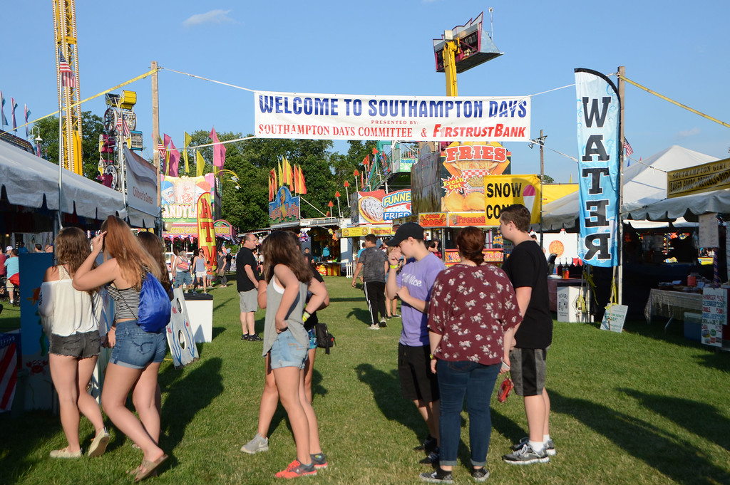 . Attendees enjoy the Southampton Days Fair July 3.  Christine Wolkin � For Digital First Media