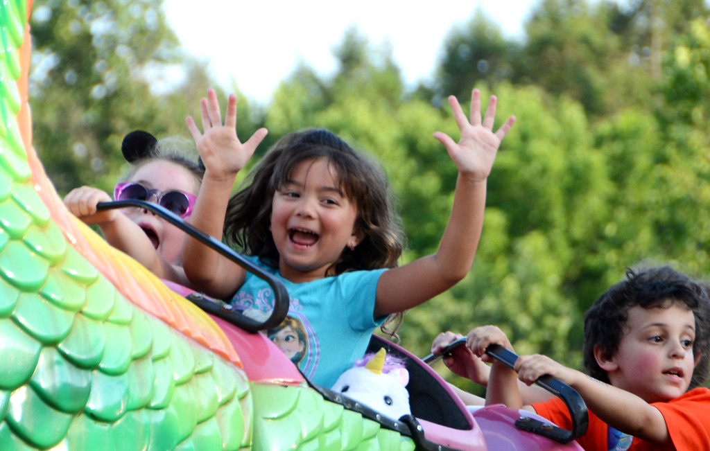 . Avery Hurgunow, of Willow Grove, rides the roller coaster at the Southampton Days Fair July 3. Christine Wolkin � For Digital First Media