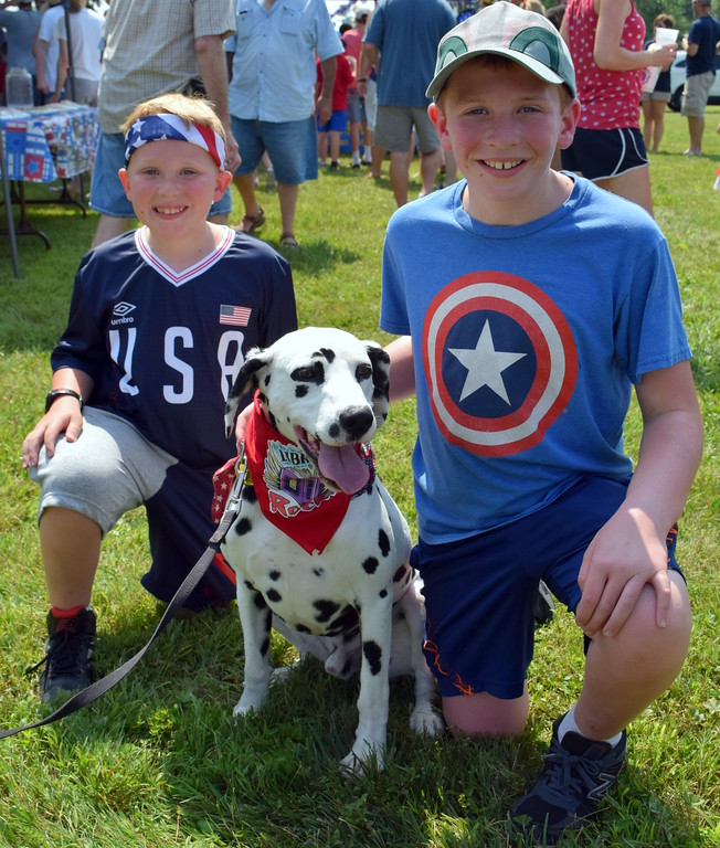 . Community members celebrate America\'s birthday during the annual Upper Salford Red, White and Blue Parade July 4. Debby High - For Digital First Media