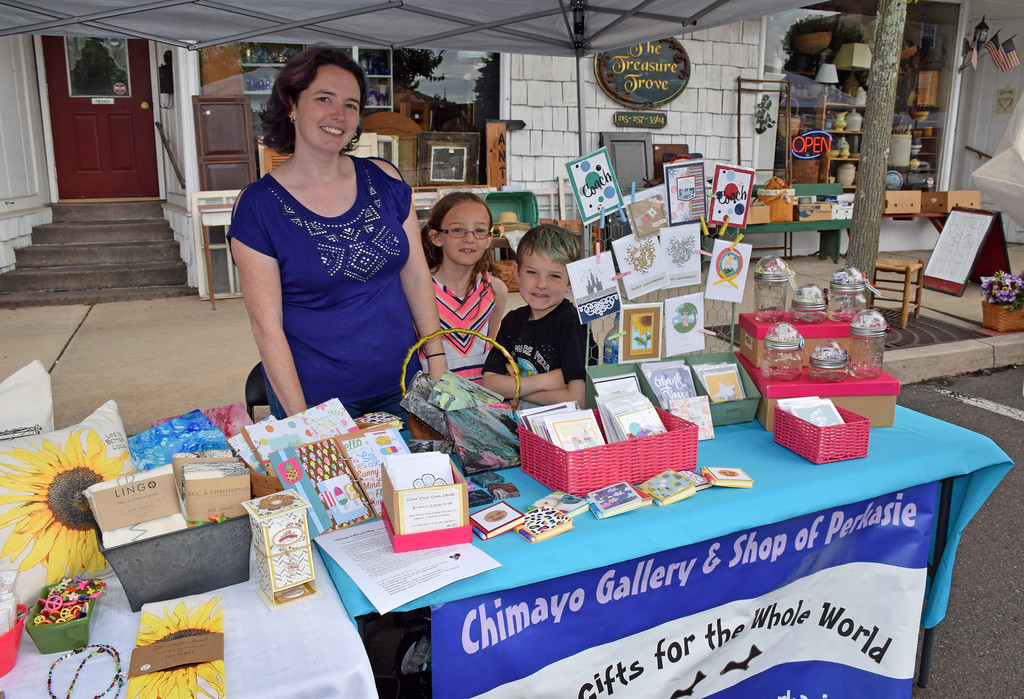. Local residents flock to the weekly Perkasie Farmers Market. Debby High � For Digital First Media