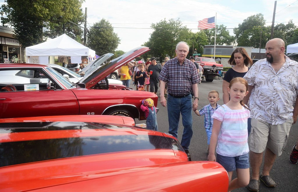 . Thousands of car enthusiasts pour down York Road to celebrate the 25th anniversary of Hatboro�s Moonlight Memories Car Show July 29.  Christine Wolkin � For Digital First Media