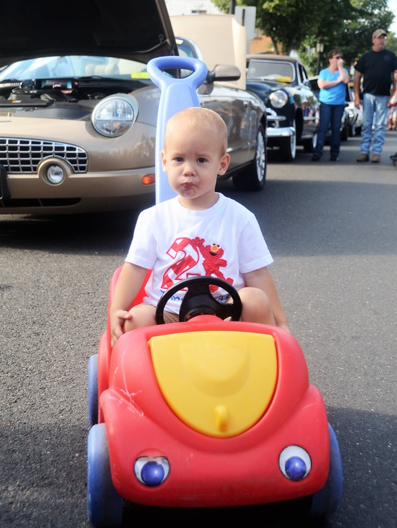 . Bryan Maurer, of Willow Grove, brings his own wheels to Hatboro�s 25th annual Moonlight Memories Car Show July 29.  Christine Wolkin � For Digital First Media