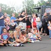 The crowd gathers to watch a K-9 demonstration during the town's National Night Out Aug. 1 outside the Horsham Municipal Complex.  Christine Wolkin — For Digital First Media
