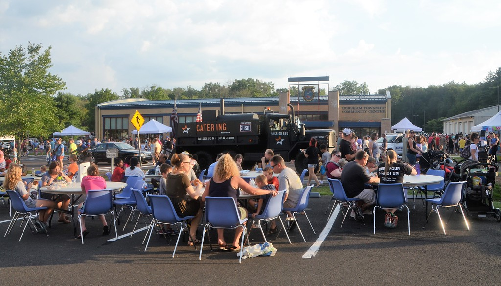 . Horsham hosts its National Night Out Aug. 1 outside the Horsham Municipal Complex. National Night Out is designed to raise drug and crime prevention awareness and to promote police-community partnership.  Christine Wolkin � For Digital First Media