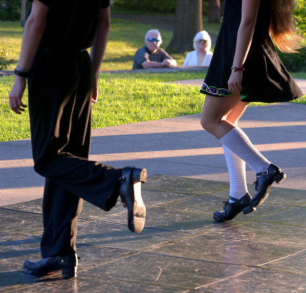 Fitzpatrick School of Irish Dance students demonstrate clogging at Souderton Community Night Aug. 8, 2017.  //  Bob Raines--Digital First Media