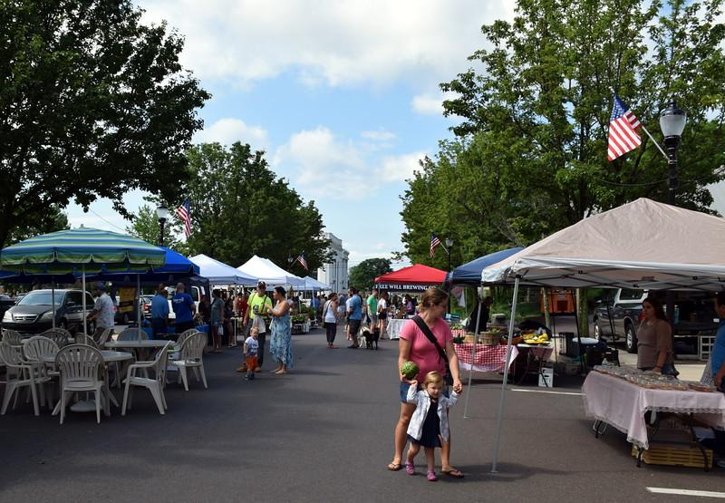 The weekly Perkasie Farmers Market is held Saturday, Aug. 5. Debby High - For Digital First Media
