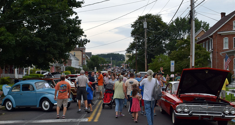 The 20th annual Under the Stars car show takes over downtown Perkasie Saturday, Aug. 18. Debby High — For Digital First Media