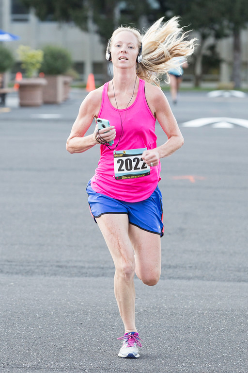 . Brooke Arnold is the first woman to finish the Run with the Sun 5K with a time of 21:51.  Rachel Wisniewski � For Digital First Media