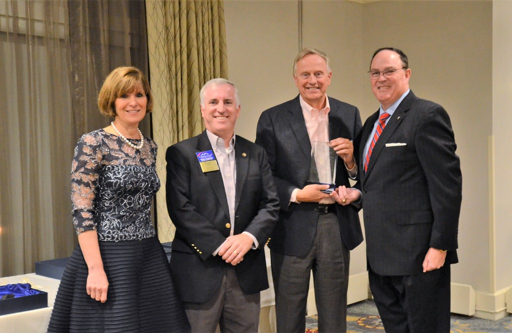 . The Chamber of Commerce for Greater Montgomery County awards Kieffer�s Appliances the Business of the Year Award (under 100 employees) during its annual dinner and awards celebration at PineCrest Country Club Wednesday, Oct. 28. Left to right are Pam Kelly, chamber president; Michael Coakley, chamber vice chairman, Kreischer Miller; John E. Kieffer, Kieffer�s Appliances; and Dan Reavy, board chairman.  Christine Wolkin � For Digital First Media