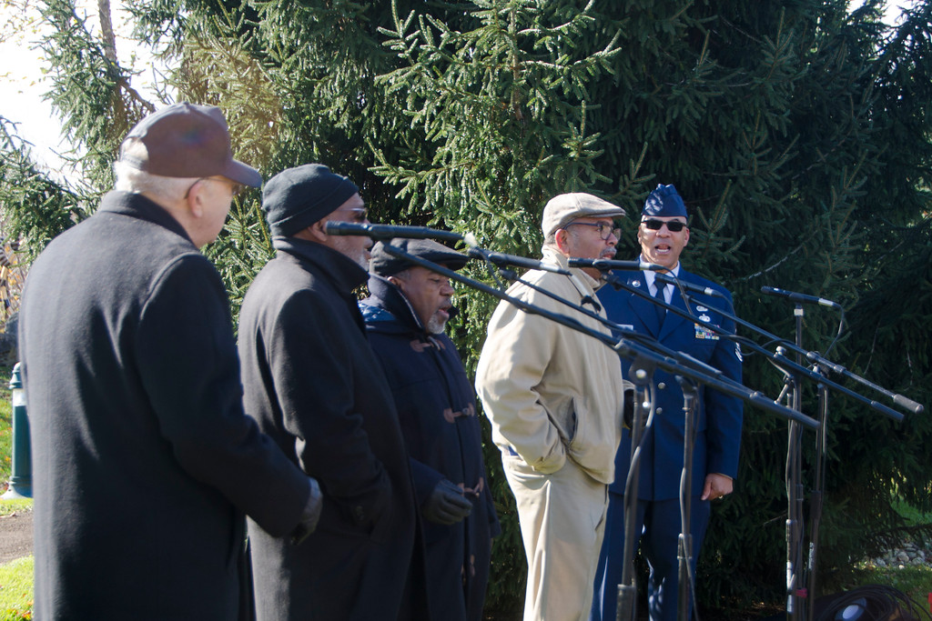 . Lower Gywnedd residents and officials celebrate Veterans Day with the fifth annual Veterans Day ceremony Nov. 10 at Lower Gwynedd�s Veterans Park in Spring House. Christine Wolkin � For Digital First Media