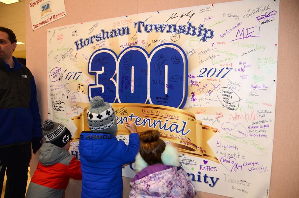. Horsham Township holds its final tricentennial celebration event at the Horsham Community Center Dec. 1. Christine Wolkins � For Digital First Media