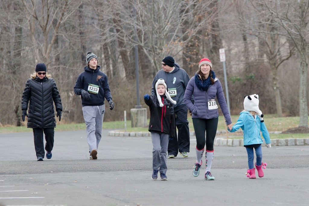 . Runners participate in the seventh annual Freezer 5K run and 1-mile family fun walk held at Simmons Elementary School in Horsham Dec. 9. Proceeds from the event will benefit the Horsham Parks and Recreation Department and the St. Vincent de Paul Food Bank. Christine Wolkin � For Digital First Media