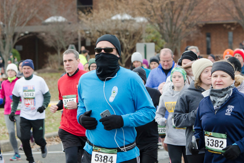 Runners participate in the seventh annual Freezer 5K run and 1-mile family fun walk held at Simmons Elementary School in Horsham Dec. 9. Proceeds from the event will benefit the Horsham Parks and Recreation Department and the St. Vincent de Paul Food Bank. Christine Wolkin — For Digital First Media
