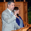 Bob Schultz and Eva Morrison of UDHS spoke at the Candle Light Vigil held at Ambler Church of the Brethren on Thursday, May 25,2017. DebbyHigh for Digital First Media