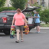 Sara Sanders receives donations from area residents as she and her children transitions from a homeless shelter to her own apartment July 21, 2017. Gene Walsh — Digital First Media