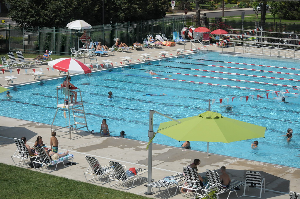 . Families enjoy the Souderton Community Pool July 31, 2017. Gene Walsh � Digital First Media