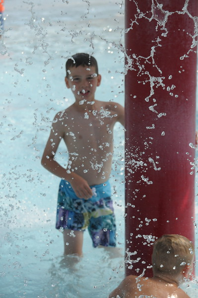 Families enjoy the Souderton Community Pool July 31, 2017. Gene Walsh — Digital First Media