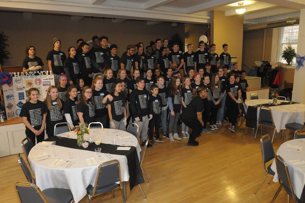 . Students and community youths serve lunch to area families during Jenkintown Community Day of Service at Immaculate Conception Church January 15, 2018. Gene Walsh � Digital First Media