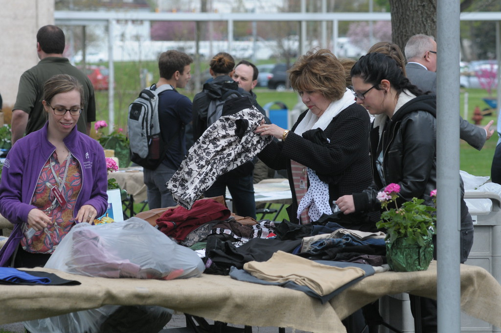 . Montgomery County Community College celebrates Earth Day  April 19, 2017. Gene Walsh � Digital First Media