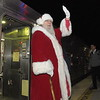 Santa arrives by train in Ambler December 6, 2018. Gene Walsh — Digital First Media