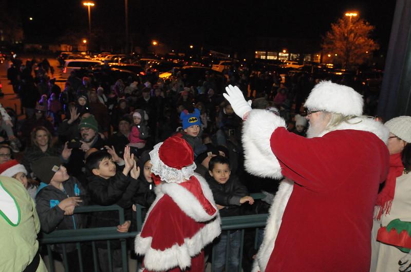 Santa arrives by train in Ambler December 6, 2018. Gene Walsh — Digital First Media