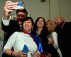 Jim Garrahan takes a selfie of Superhero Theresa Schwartzer, Cheryl Gillmer, Tonja Garrahan and Greg Schwartzer at the North Penn UnitedWay Superheroes Unite Gala April 21, 2017.  (Bob Raines/Digital First Media)