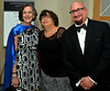 Dr. Valerie Arkoosh, chair, Montgomery County Board of Commissioners, stands with Joanne Mahoney and Richard Buttacavoli at the North Penn United Way Superheroes Unite Gala April 21, 2017.  (Bob Raines/Digital First Media)