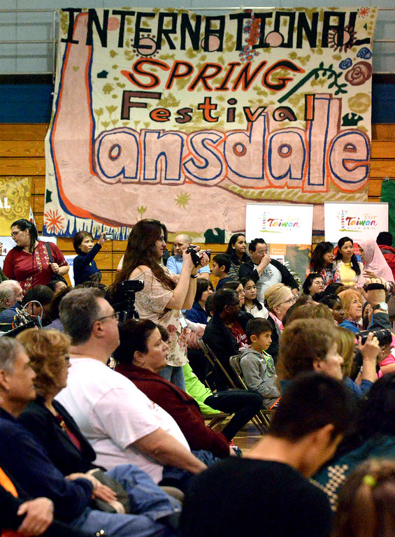 . Area residents watch the entertainment on the main stage at the International Spring Festival April 22, 2017.  (Bob Raines/Digital First Media)