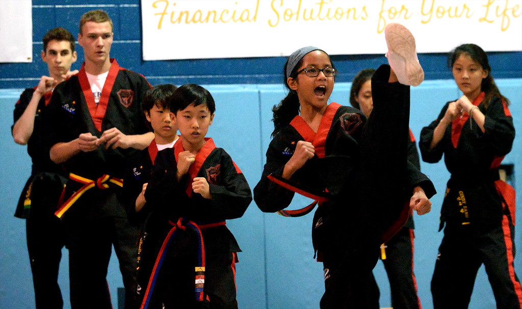 . Students from Sky Martial Arts put on a demonstration at the International Spring Festival April 22, 2017.  (Bob Raines/Digital First Media)