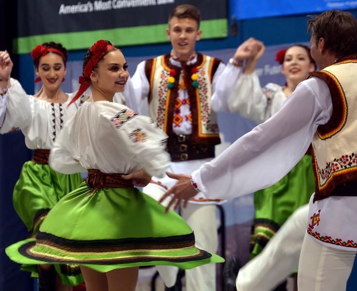 The Voloshky Ukrainian Dance Ensemble performs at the International Spring Festival April 22, 2017.  (Bob Raines/Digital First Media)