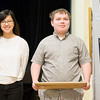 Nicole Hwang (left) and Trevor Hohman pose with their G3: grades 9-12 awards. (Rachel Wisniewski/For Digital First Media)