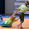 One girl swings another on a floor scooter at the Montgomery Elementary MiniTHON Feb. 4, 2017.  (Bob Raines--Digital First Media)