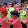 A chain of girls passes a chain of boys at the Montgomery Elementary MiniTHON Feb. 4, 2017.  (Bob Raines--Digital First Media)