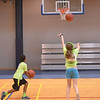 A boy and girl shoot baskets at the Montgomery Elementary MiniTHON Feb. 4, 2017.  (Bob Raines--Digital First Media)