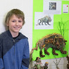 Fourth-grader Ayden Kane stands beside the crafty creature that he created, with help from his aunts, to submit to the Junior Flower Show.  Rachel Wisniewski — For Digital First Media