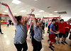 Students compete in a dance contest during LOG-A-THON at Log College Middle School Feb. 23, 2017.  (Bob Raines--Digital First Media)
