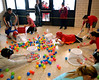 """Students play a game based on """"Hungry, Hungry Hippo"""" during LOG-A-THON at Log College Middle School Feb. 23, 2017.  (Bob Raines--Digital First Media)"""