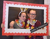 Stephanie Ionata and Breanna McGinnis get framed for a photo during LOG-A-THON at Log College Middle School Feb. 23, 2017.  (Bob Raines--Digital First Media)