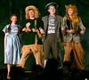 "Dorothy (Mariel Pello), Scarecrow (Charlie Beall), Tin Man (Morgan D'Amico) and Lion (Tommy Nadolski) sing a reprise of, ""Ease on Down the Road,"" as they head for the Emerald City. They are rehearsing for the Springfield Township High School production of ""The Wiz"" March 7, 2017.  (Bob Raines / Digital First Media)"