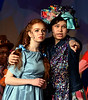 "Addaperle (Brenna Roessler), the Good Witch of the North, points Dorothy (Mariel Pello) toward the Yellow Brick Road and Oz. They are rehearsing for the Springfield Township High School production of ""The Wiz"" March 7, 2017.  (Bob Raines / Digital First Media)"