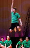 """Ren McCormack (Scotty Murphy), the """"new kid"""" from Chicago has trouble adjusting to the conservative atmosphere of Bomont in """"I Can't Stand Still"""" during a rehearsal for the Upper Moreland production, """"Footloose,"""" March 22, 2017.  (Bob Raines / Digital First Media)"""