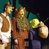 """Papa Ogre (Dan Walker) and Mama Ogre (Gwen Gemmell) see off a young Shrek (Yvan Phan) during the Pennridge School District and STARS production of """"Shrek the Musical.""""  Christine Wolkin — For Digital First Media"""